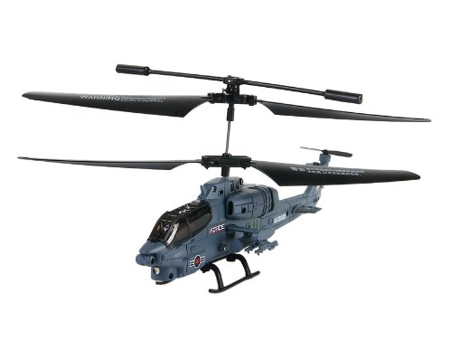 SBEGO 69038 3.5 Channels Alloy Mini Apache RC Helicopter with Gyroscope (Grey)