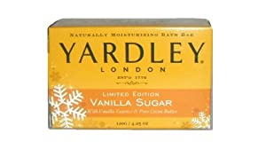 Yardley of London Limited Edition Vanilla Sugar Soap Naturally Moisturizing 4.25 oz NIB