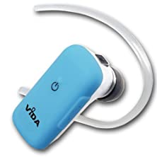 buy Vida It (Blue) Bluetooth Headset For Huawei - Ascend G500 - Ascend Y201 Pro - Honor 3 - Ascend G700 Cell Phone - Noise Cancellation - Connect 2 Phones - Volume Control