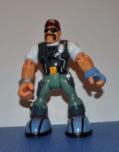 Bill Buster Canine Police Officer (Retired) Rescue Hero - Fisher Price Action Figure Non Violent Doll Toy Rescue Heroes - 1