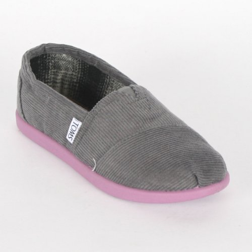 Toms Youth Grey Cord Pop Classic Shoes Size 12 M US Little Kid Color Grey Pop