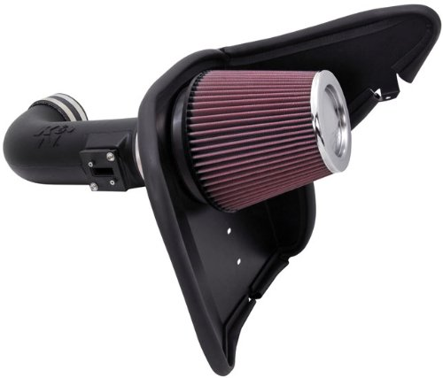 K&N Performance Air Intake Kit 63-3074 with Lifetime Red Oiled Filter for 2010-2015 Chevrolet Camaro SS 6.2L V8 (2015 Camaro Cold Air compare prices)