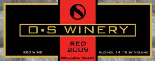 "2009 O S Winery ""Red"" Columbia Valley Bordeaux Style Red Blend 750 Ml"
