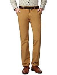 Peter England Khaki Trousers - B01CGMSSQM