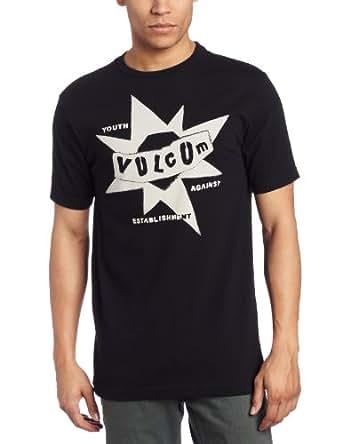 Volcom Men's Punk Star Pistol Short Sleeve Tee, Black, Large