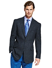 Sartorial Pure New Wool 2 Button Checked Jacket