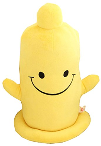 Creative Condom Pillow Condom Doll Birthday Gifts Smiling Face Plush Toy