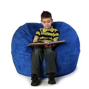 Pleasant Jaxx Jaxx Sac Jr Bean Bag Blueberry Microsuede Unemploymentrelief Wooden Chair Designs For Living Room Unemploymentrelieforg
