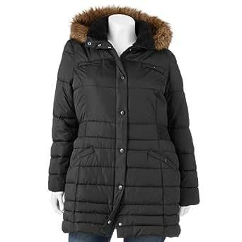 Apt. 9 Hooded Puffer Jacket - Women's Plus down coat 2X at ...