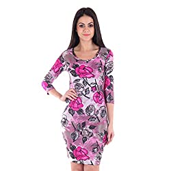 Cozer Creation Floral Printed western wear Pink Skirt Dress Material