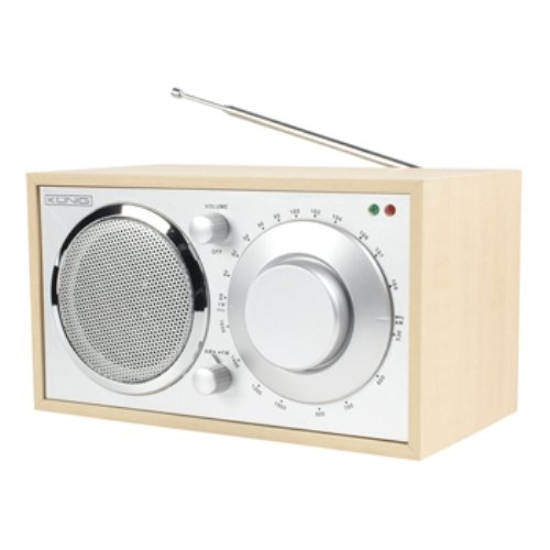 Konig 220x125x135mm AM FM Retro Design Table Radio - Maple