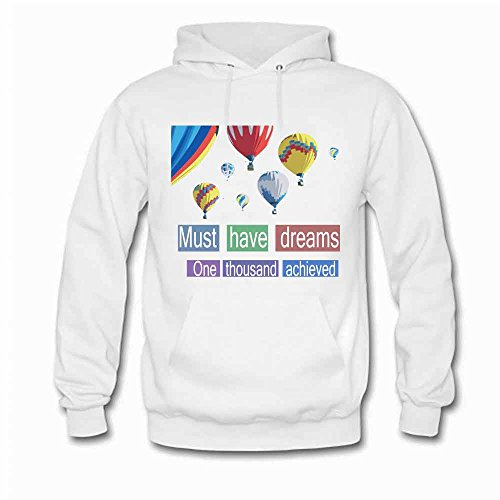 Hot Air Balloon Must Have Dreams Pullover Men's Cotton Hoodie XXL