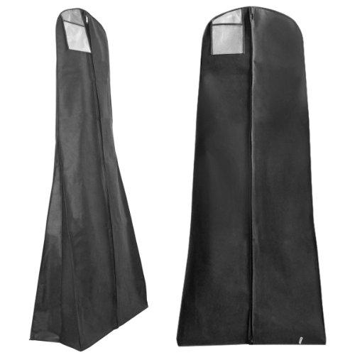 Hangerworld-Funda-Impermeable-Para-Vestidos-De-Novia-Largos-O-Abultados-Color-Negro-Tamao-XL-180-cm