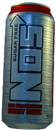 16 Pack - NOS High Performance Energy Drink - Sugar Free - 16oz.