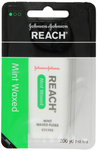 Reach Dental Floss, Waxed, Mint, 200 Yard (Pack Of 4) front-834991
