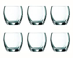 Arcoroc Salto Old Fashion Tumbler Set, 320ml, Set of 6, Transparent