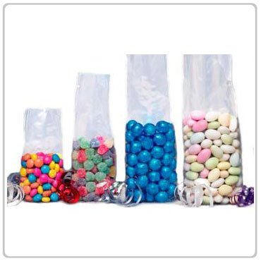 100x Super Clear Flat Cello/Cellophane Treat Bag 6x8 inch(1.2mil)