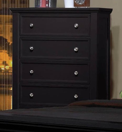 Storage Chest Cape Cod Style in Black Finish