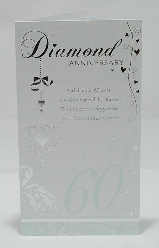 Diamond 60th Wedding Anniversary Greeting Card
