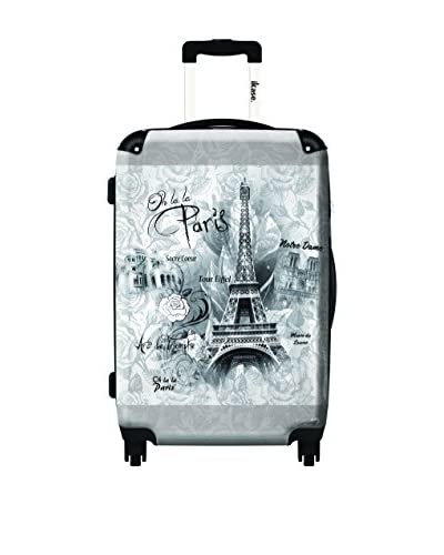 Ikase Oh La La Paris Eiffel Tower Rolling Luggage Grey, Multi, 10X16X24