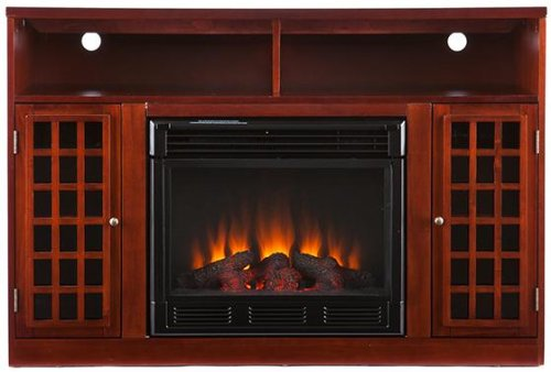 Owens Media Electric Fireplace, Electric, Mahogany