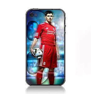 Steven Gerrard Football case for Iphone 4 4S black sidecover 74448