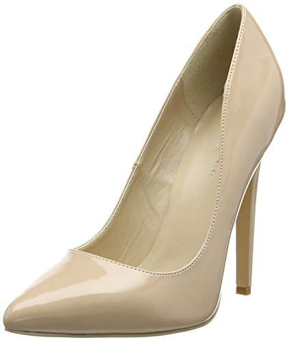 Pleaser SEXY-20, Decolleté chiuse donna, Beige (Beige (Nude)), 35