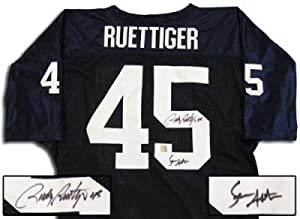 Rudy Ruettiger And Sean Astin Dual Autographed Hand Signed Notre Dame Jersey