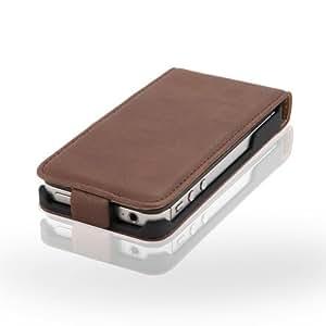 meinStil MS0769BRO Klassische Magnet Verschluss Schutzhülle für Apple iPhone 4/4S braun