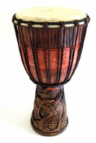 Dragon Wood Djembe Percussion Hand Drum - Professional -19.5