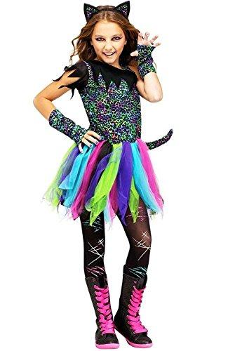 Wild Rainbow Cat Kids Costume