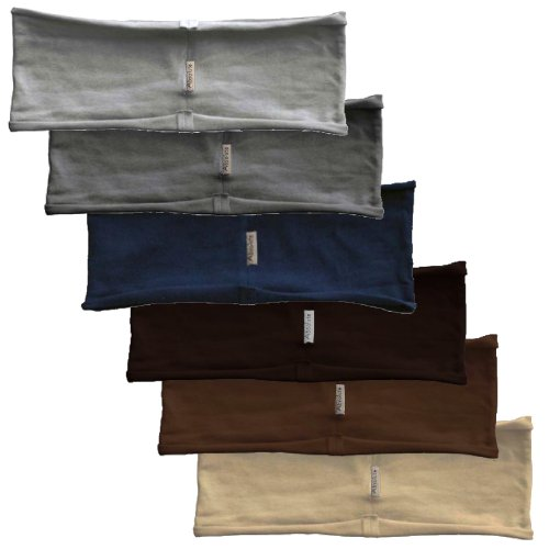 6-pack hBAND basic collection stretchy yoga headbands (navy, gray, light gray, beige, brown, chocolate) by Absolute Yogi