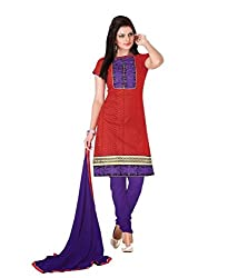 Cotton Embroidered Party Wear Women Dress Material