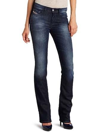 Diesel Women's Bootzee Regular Slim Bootcut-Leg Jean 0800V, Blue, 32x34