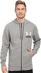 Under Armour Tri Blend Fleece Full Zip Hoody - Men\'s Greyhound Heather / Asphalt Heather / White XL