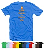 Keep Calm and Zingy On EDF Energy Funny T-Shirt in 12 Colours by Smudged