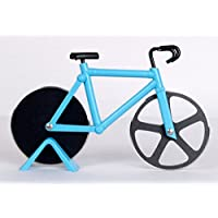 Blue Bicycle Pizza Cutter | Stainless Steel Blade | Dishwasher Safe | Perfect For Gift | Modern Kitchen Accessory...