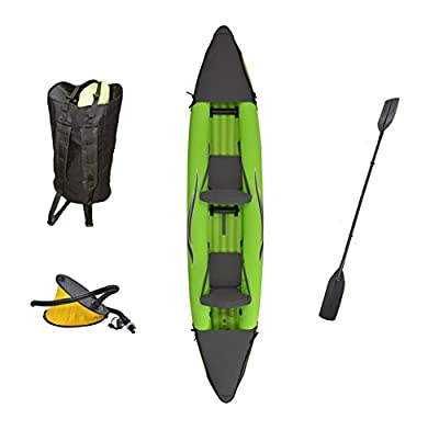 OTF-4252PK Outdoor Tuff Stinger 4 OTF-4252PK Inflatable Two-Person Sport Kayak with Rotatable Paddle, 425-Pound Capacity from BAC Industries