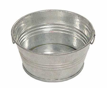 set-of-2-wash-tub-style-galvanized-metal-pans-with-handles-for-crafting-candles-and-arranging