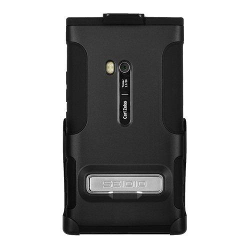 Seidio ACTIVE Holster & Case Combo (w/ Kickstand) for Nokia Lumia 900 / Ace - (Black)