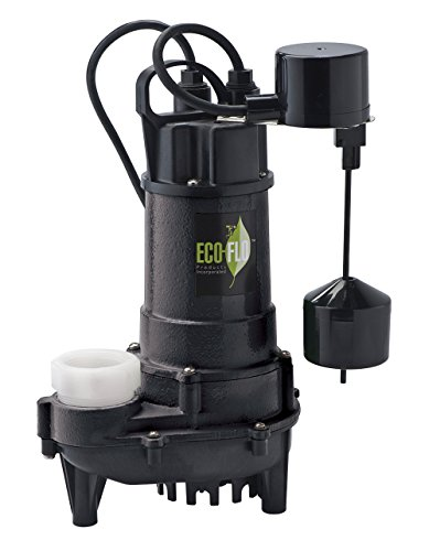 eco flo ecd75v products ecd75v 3 4 inch hp submersible sump pump