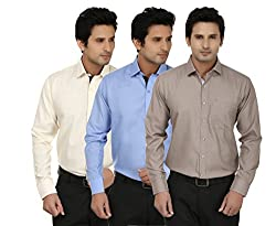 Fizzaro Men's Fashion Poly Cotton Stylish shirt with Regular Fit Long Sleeves