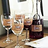 41 G3AEKa2L. SL160  Set of 4 Personalized Wine Glasses
