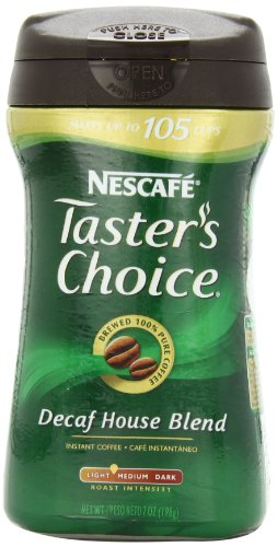 Tasters Choice Instant Decaf Coffee, 7 Oz Canisters, 3 Pk