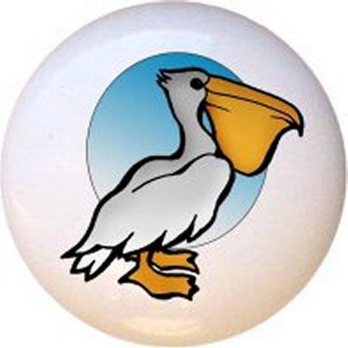 Pelican Ceramic Drawer Pull / Cabinet Knob