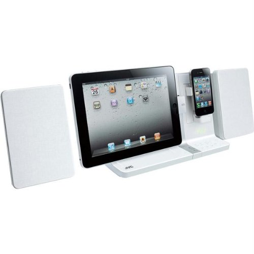 Jvc Speaker System With Ipad? Dock And Rotating Iphone?/Ipod? Dock-White (Uxvj3W) -