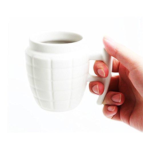 Army 3D Grenade tazza tazza di ceramica con il coperchio caffè Tazza da tè regalo divertente Bianca