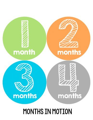 Months in Motion 143 Monthly Baby Stickers Milestone Age Sticker Photo Prop