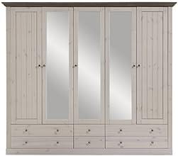 Steens Furniture Monaco 115/69 Kleiderschrank, weiß / grau
