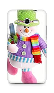 Amez designer printed 3d premium high quality back case cover for Samsung Galaxy Core 2 (Snowman doll)